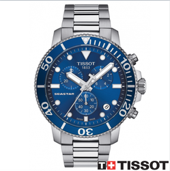 TISSOT 天梭錶 SEASTAR 1000海洋之星300米潛水石英款 T12041711041藍/46mm