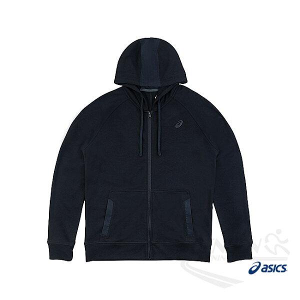 ASICS亞瑟士男運動運動針織連帽外套(黑)【胖媛的店】
