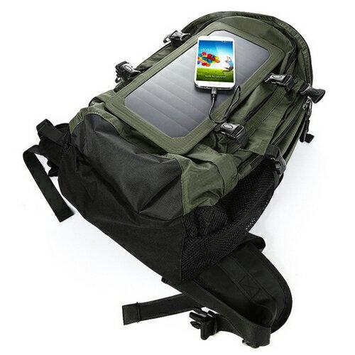 太陽能供電背包 USB充電 外出遊玩不怕沒插座 太陽能休閒戶外運動背包露營登山背包 自行供電功能包