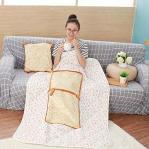 美麗大街【HB107041328E2】仿真麵包靠墊抱枕被子二合一(空調被)
