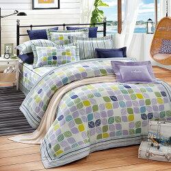 三件式床包組 A1832 葉語 *天絲*雙人/加大  奧斯汀台灣製造