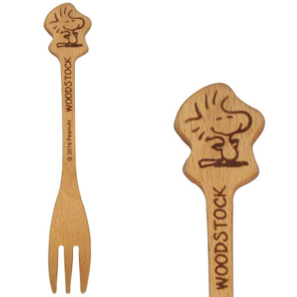 【真愛日本】17031500069 木製小叉子-塔克鳥 史奴比 史努比 SNOOPY 叉子 餐具