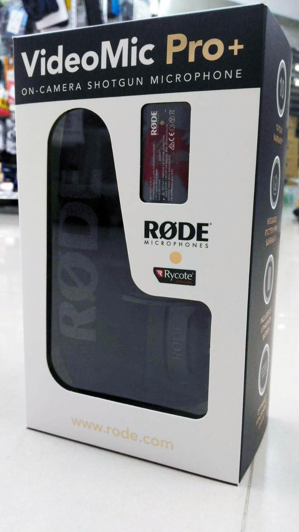 購物滿3000點數10倍送 RODE VideoMic PRO Plus 新款 PRO+ 指向性收音麥克風 含鋰電池 平輸 直播 採訪