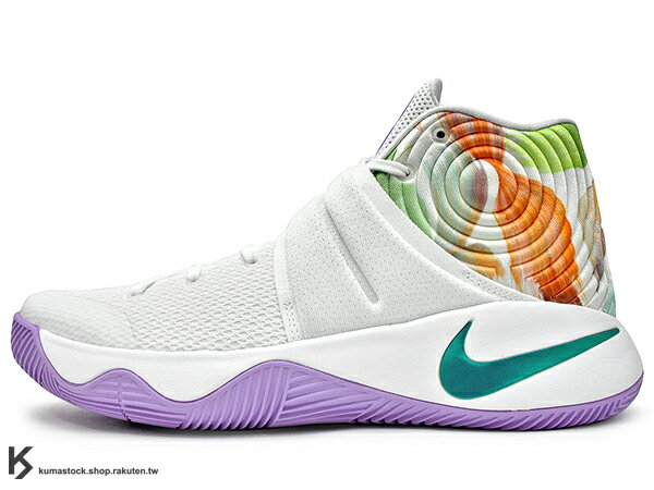 reputable site cd472 2e4ea 2016 Kyrie Irving 最新代言鞋款 NIKE KYRIE 2 II EP EASTER 全白紫底 彩蛋 復活節 黏扣帶  HYPERFUSE 鞋面 後 ZOOM AIR 氣墊 UNCLE DREW (820537-105) !