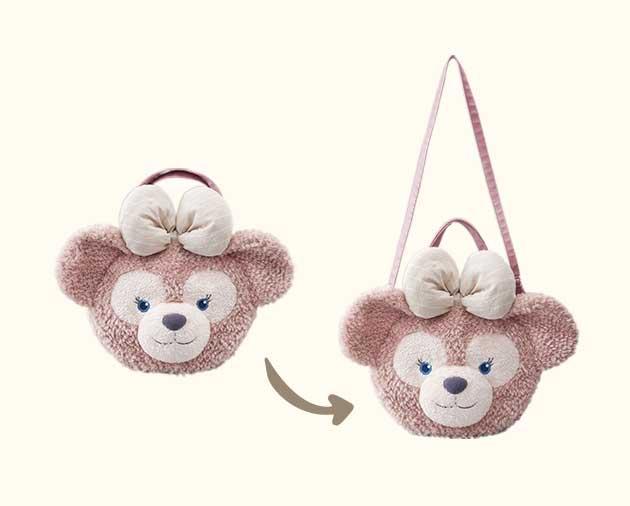 【真愛日本】14082700014 經典頭型肩側背包袋-雪莉玫大臉 Duffy 達菲熊&ShellieMay 大頭包 日本迪士尼限定販賣店帶回