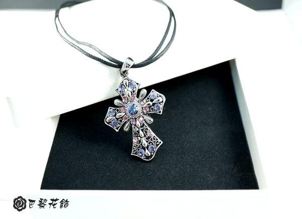 愛的勳章 永恆愛戀水晶項鍊~巴黎花飾~