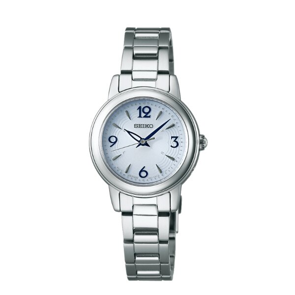 Seiko Vivace 1B21-0AD0S(SWFH017J)簡約優雅太陽能電波腕錶/藍面26mm