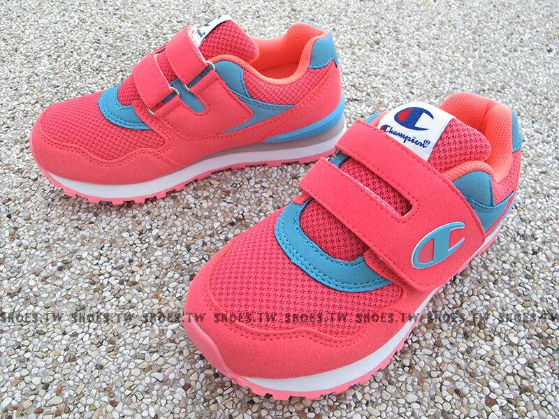 Shoestw Champion 大童鞋 運動鞋 黏帶 大人女生可穿 粉紅【621240163】 紅色【621240145】 藍色【621240134】 2