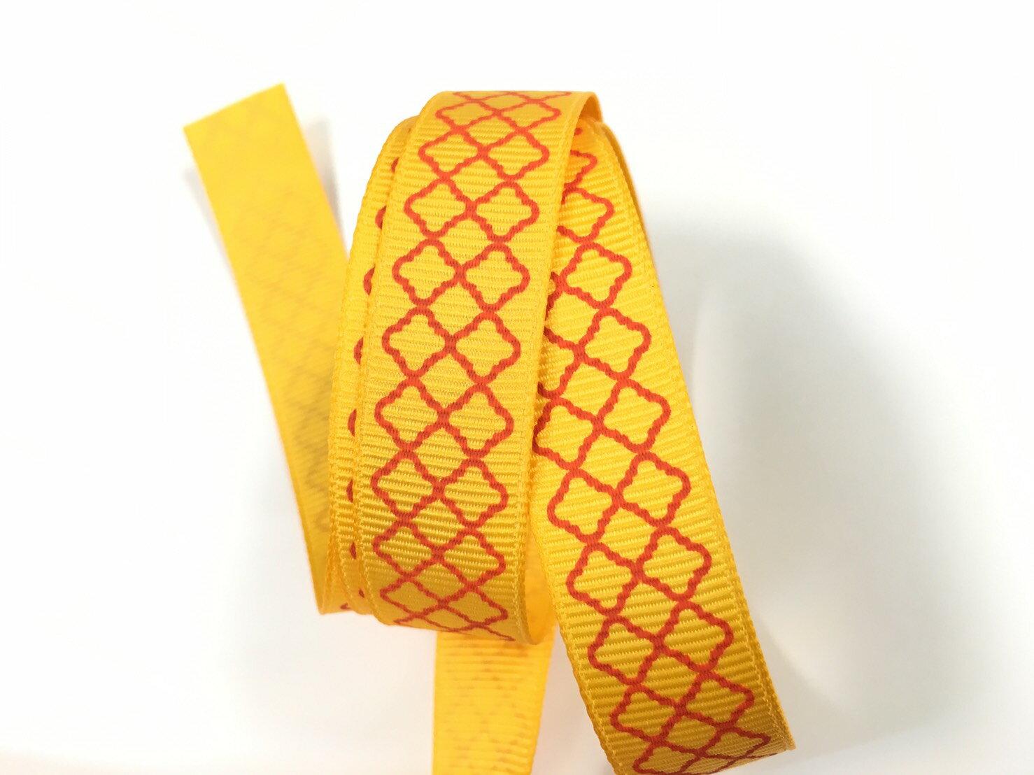 羅紋緞帶-網格 15mm 3碼裝 (5色) 0