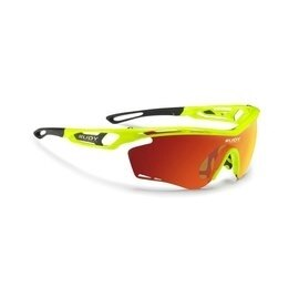 凹凸光學運動眼鏡:『凹凸眼鏡』義大利RudyProjectTRALYX系列YellowFluoGlossMultilaserOrange橘色多層膜鏡片運動鏡~六期零利率