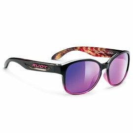 『凹凸眼鏡』義大利 Rudy Project Broommstyk女生系列(BlackAnemone / Multilaser Violet) 時尚運動膠框~六期零利率