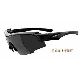 【凹凸眼鏡】ADHOC-K-NIGHT-B軍用級運動太陽眼鏡(亮黑色)加贈夜視鏡片(黃片)~六期零利率~