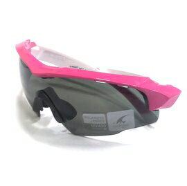 【凹凸眼鏡】ADHOC-K-NIGHT-W軍用級運動PZ偏光太陽眼鏡(桃紅/白色)~加贈夜視鏡片(黃片)~~六期零利率~