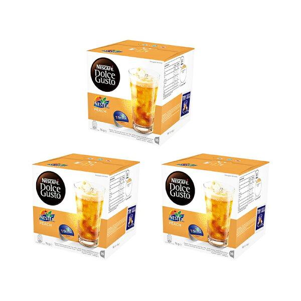愛美麗福利社:雀巢DolceGusto茶品蜜桃茶膠囊(Peach)(3盒組,共48顆)