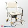 均佳 不銹鋼洗澡便器椅 JCS-305 扶手可拆 不鏽鋼馬桶椅 有輪便盆椅 洗澡椅 洗澡馬桶椅 有輪馬桶椅