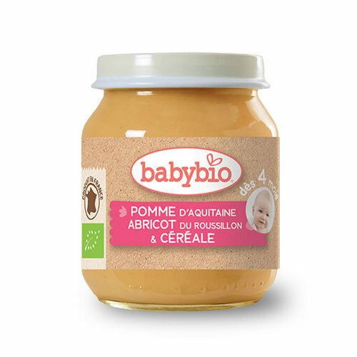 法國倍優Babybio有機鮮果米泥4m+有機副食品鮮果泥