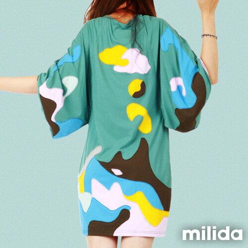 【Milida,全店七折免運】五分袖寬鬆舒適洋裝 2