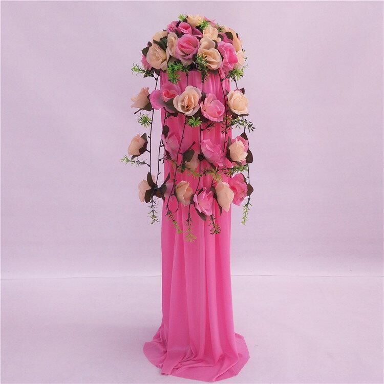 中式婚禮布置結婚花柱花拱門羅馬柱t臺裝飾道具路引婚慶新款2018 1