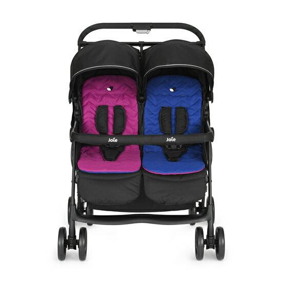【淘氣寶寶】2015年新款 奇哥 Joie Aire Twin 雙胞胎嬰兒推車 JBB60200K 【平躺式座椅/四輪避震 】