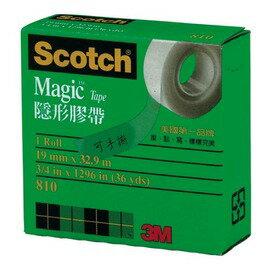 3M Scotch 810-3/4 隱形膠帶 面寬19mm(紙盒裝)/一捲入{定95}