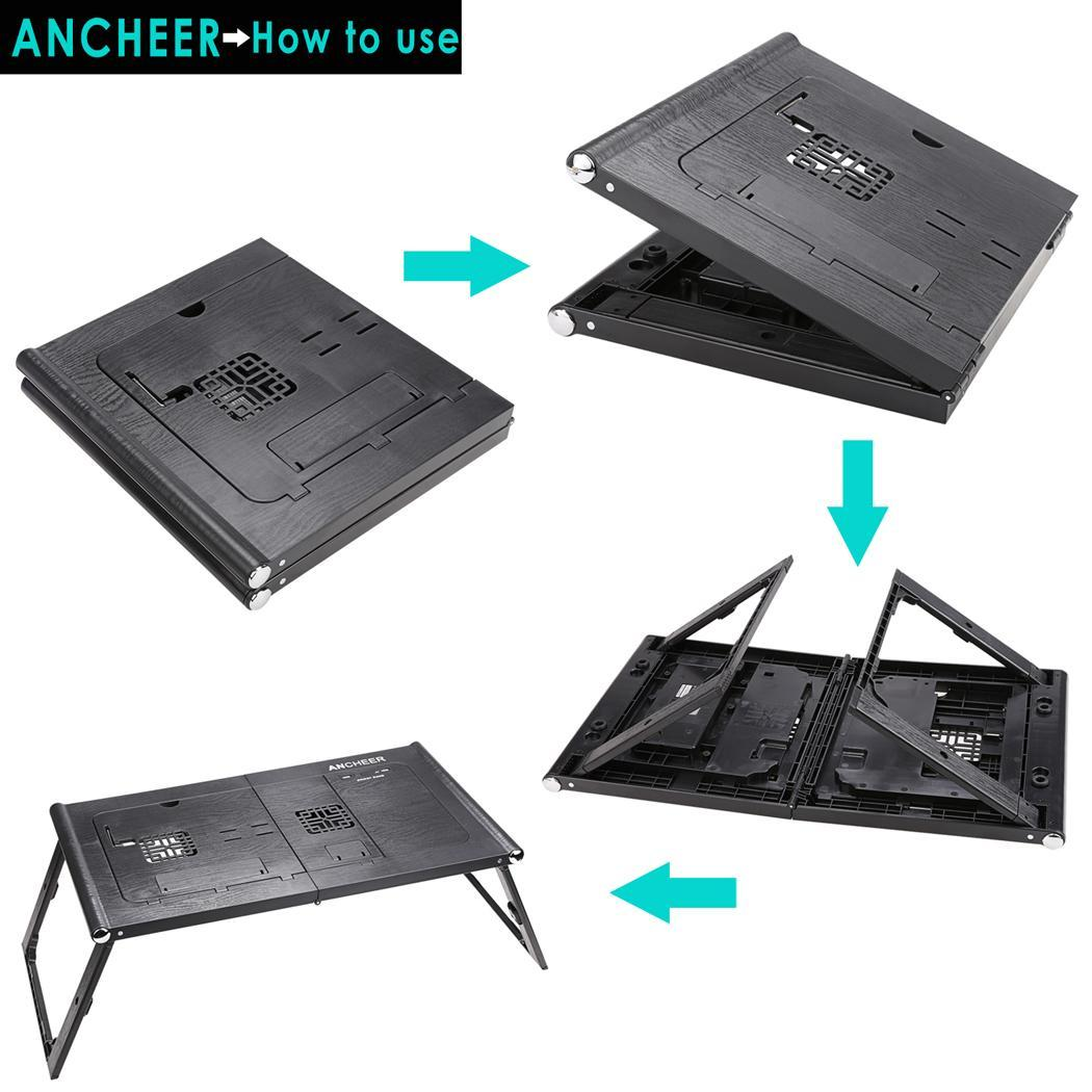 Universal 13inch Laptop Pad Folding Table with Power Bank 10000mAh 2
