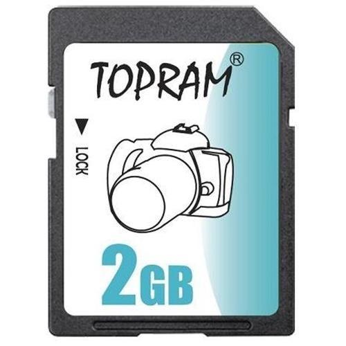 TOPRAM 2GB SD 2G SD V1.1 secure digital flash card for GPS non-SDHC bulk 0