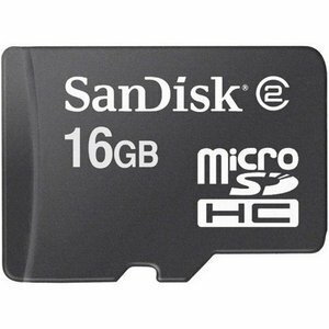 SanDisk 16GB microSDHC Class 4 16G microSD High Capacity micro SD SDHC C4 TF Flash Memory Card SDSDQ-016G + SD Adapter 0