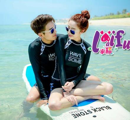 來福泳衣,A169泳衣長袖泳衣黑紋二件式泳衣情侶泳衣游泳衣泳裝比基尼加大泳衣正品,單女售價950元