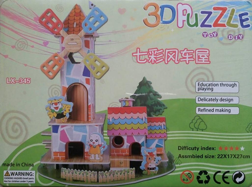 創意玩家3D立體益智紙拼圖 /DIY玩具/兒童禮物/教具/積木模型(公主、卡通:5款)