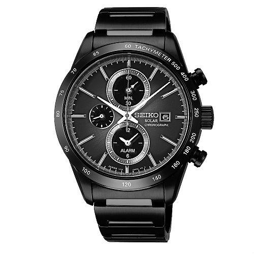 Seiko Spirit V172-0AP0SD(SBPJ019J)休閒太陽能計時腕錶/黑面41mm