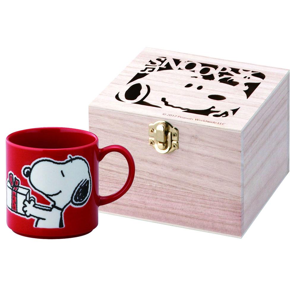 SNOOPY 史努比 陶瓷馬克杯 鏤空花紋木盒 正版 日本製