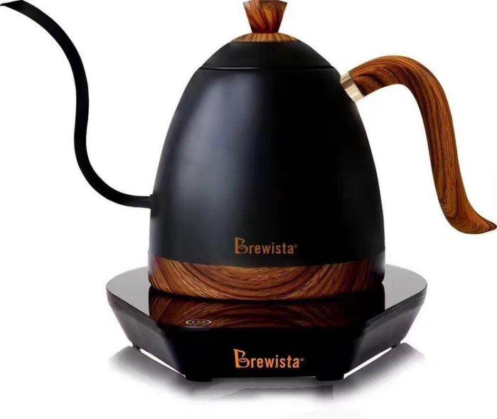 Brewista 免運溫控手沖壺 啞光黑 細長嘴可調溫 不銹鋼電熱壺 質感消光黑 英國Strix溫控系統