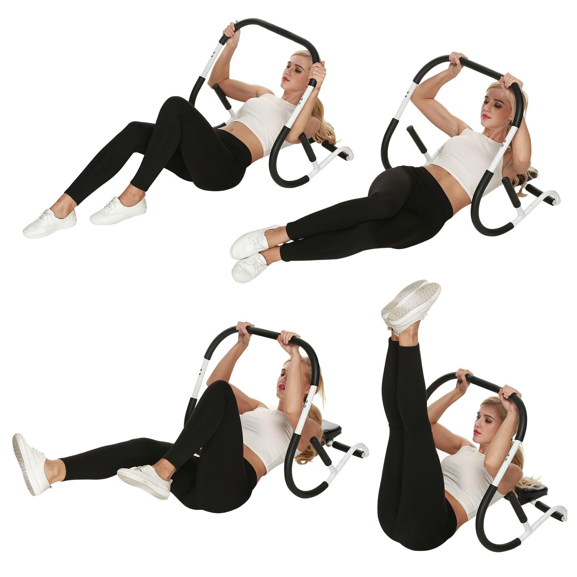 Cosway Ab Roller Crunch Machine Sturdy Fitness Equipment 2