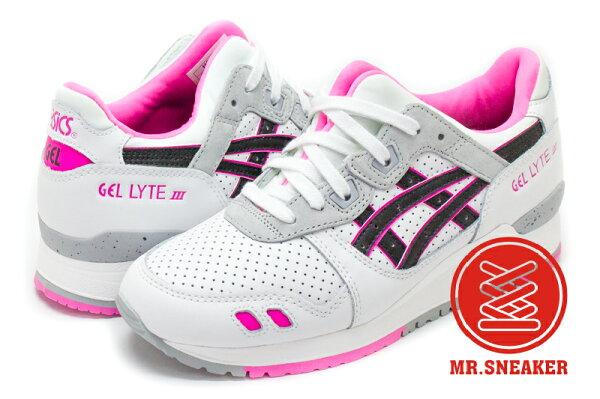 ☆Mr.Sneaker☆ASICSTigerGel-LyteIIIH634L0190白色粉色網洞女段