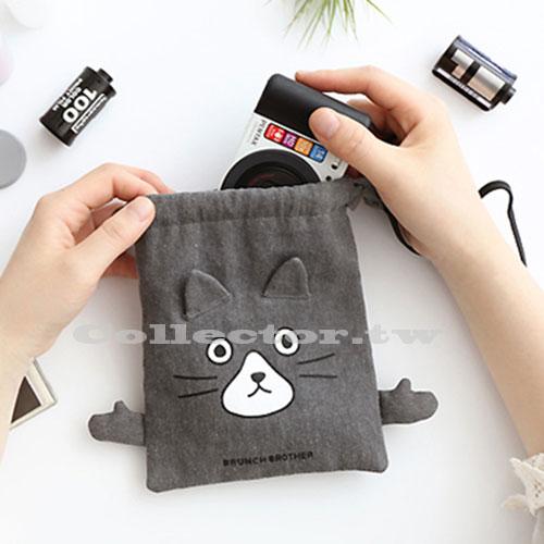 【F16120101】韓版俏皮卡通棉布束口袋-M號 旅行收納袋 行李抽繩袋 衣服小物收納整理袋
