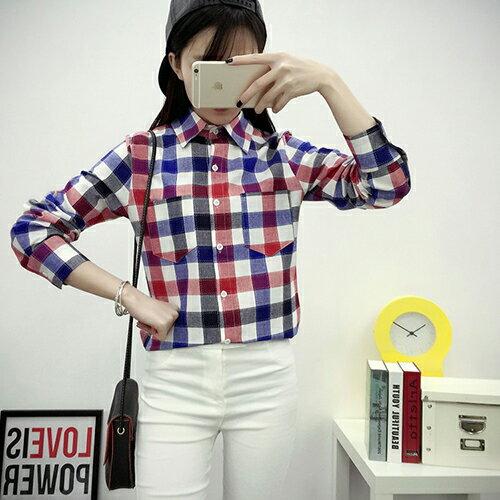 休閒經典百搭格子襯衫 (5色,M~2XL)【OREAD】 0