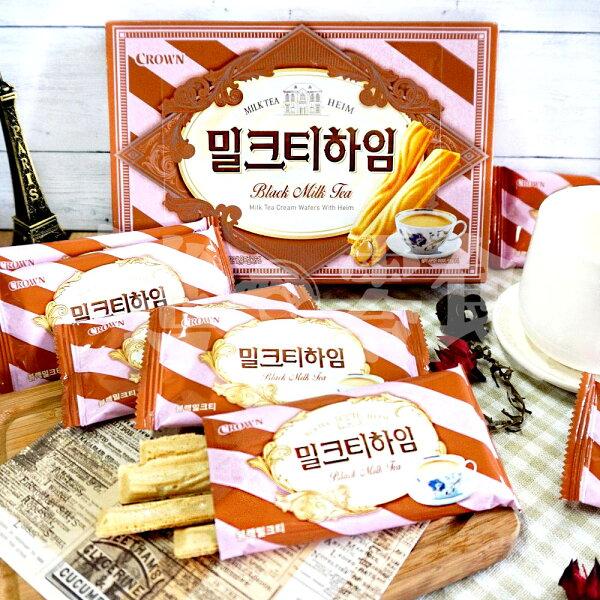 麻吉小舖:韓國【CROWN】伯爵奶茶酥,142g(9入)