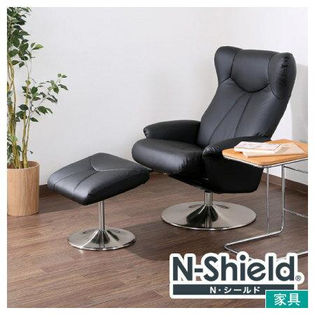 ◎耐磨皮革個人椅 N-SHIELD ROAD2 BK NITORI宜得利家居
