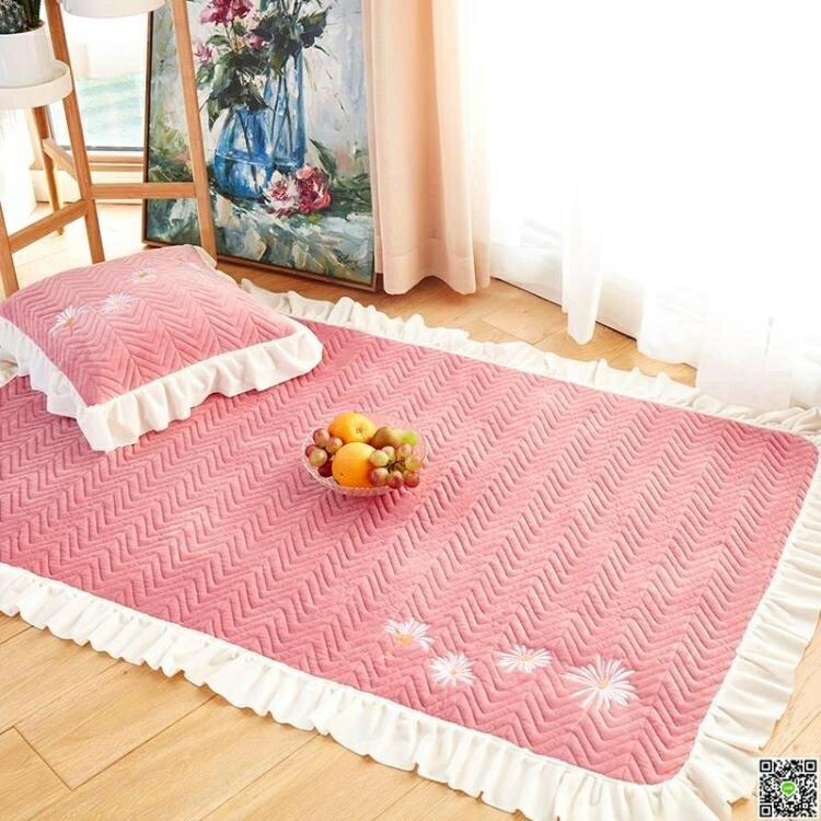 遊戲墊 北歐ins地墊短毛絨家用地毯臥室滿鋪長方形床邊茶幾爬行墊榻榻米   領券下定更優惠