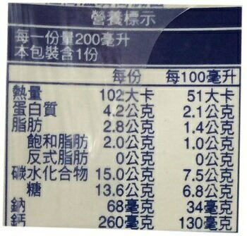 福樂 高鈣低脂牛乳(200ml*24包/箱) [大買家]