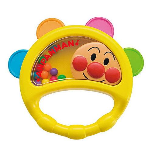 《 麵包超人 》ANP 嬰兒手搖鈴鼓玩具
