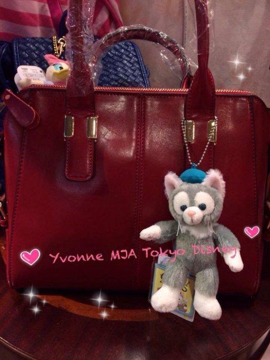 *Yvonne MJA日本代購*東京迪士尼Disney海洋樂園限定正品達菲新朋友Gelatoni傑拉東尼畫家貓站立吊飾娃娃