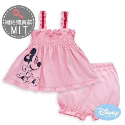 DisneyBaby甜心米妮細肩帶條紋套裝