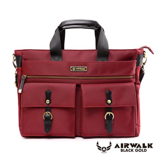 AIRWALK- 【禾雅】頂級黑金系列 時光行者 筆電托特包/肩背包/手提包/公事包 - 大容量 - 時光紅