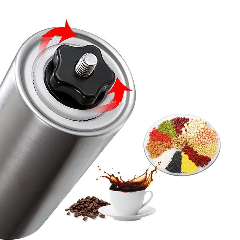 Stainless Steel Coffee Grinder with Adjustable Ceramic Conical Burr 3