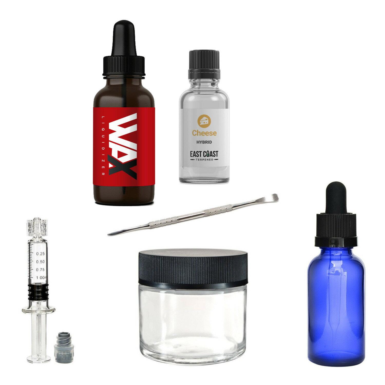Wax Liquidizer (Original, 30ml) and ECT Hybrid (Cheese, 5ml) with Mix Kit