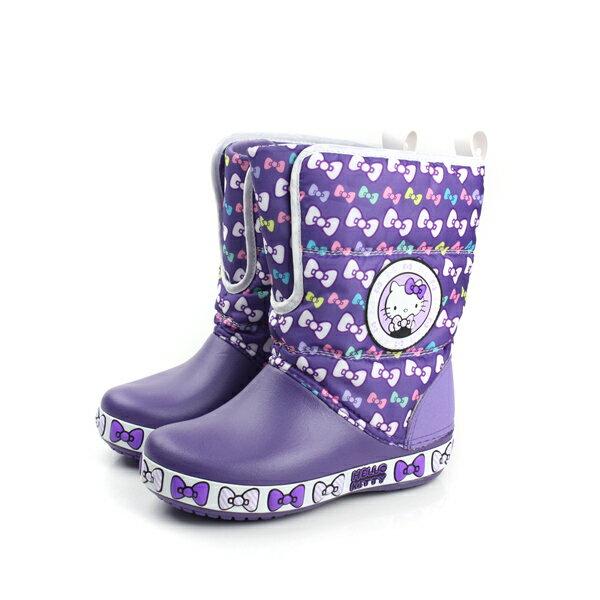 Crocs Hello Kitty 靴子 紫 中童 no350
