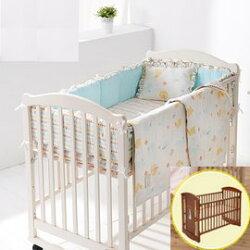 【淘氣寶寶】奇哥 Joie Peter Rabbit 比得兔大床+六層紗六件床組L【奇哥正品】
