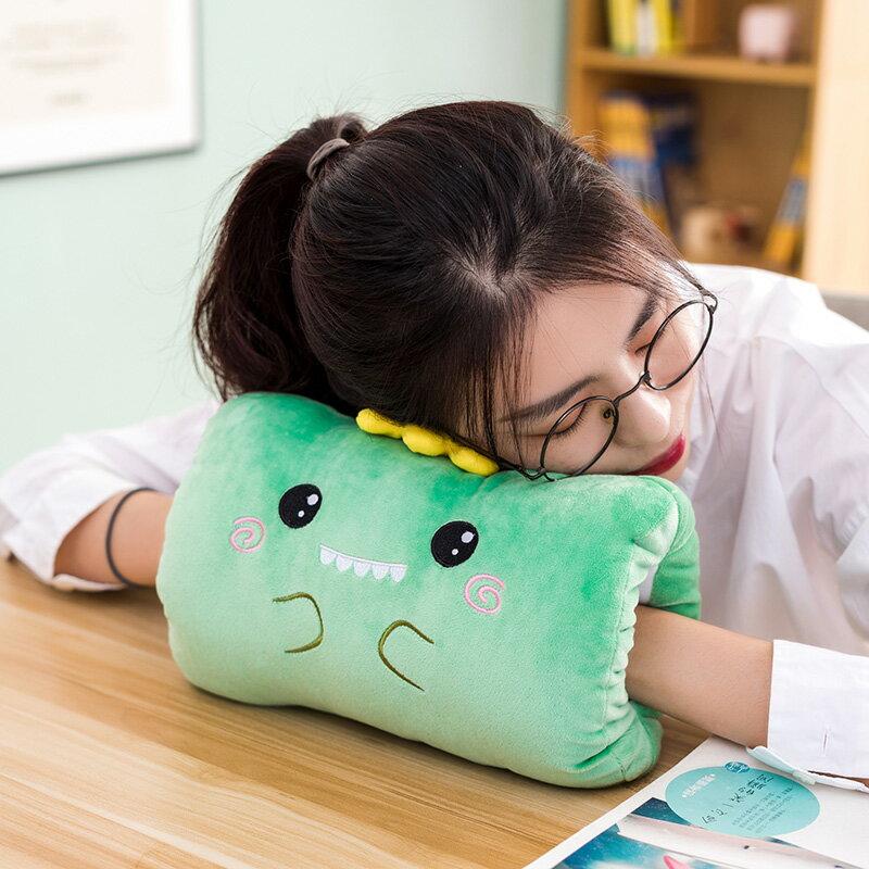 暖手抱枕插手毛絨可愛捂手枕靠墊午睡枕頭學生冬季手捂兩用女冬天