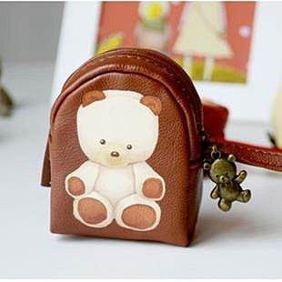 =優生活=韓國文具 娃娃熊零錢包 收納包 復古錢包 兒童禮物